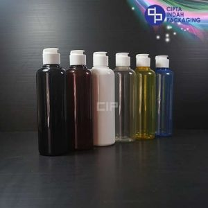 Botol Fliptop Topi 250 ml Warna-Tutup Putih