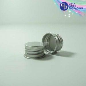 Tutup Ulir Aluminium Neck 24 Silver